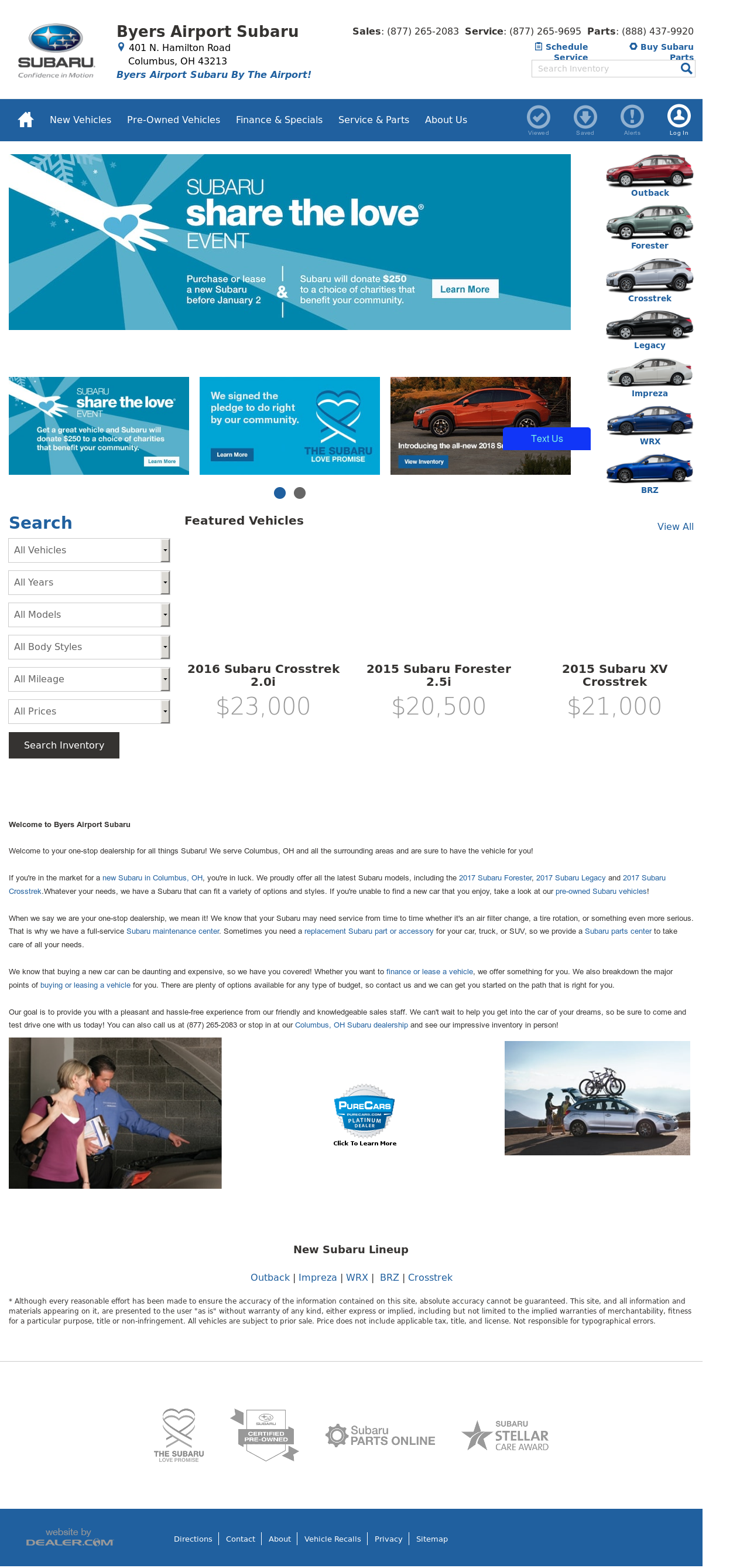 Byers Airport Subaru >> Byers Airport Subaru Competitors Revenue And Employees