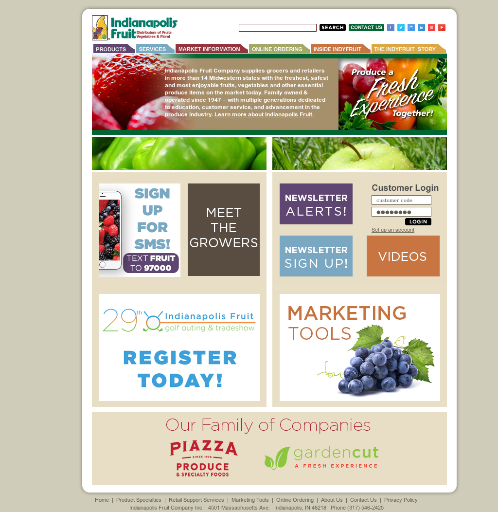 Indianapolis Fruit Competitors, Revenue and Employees