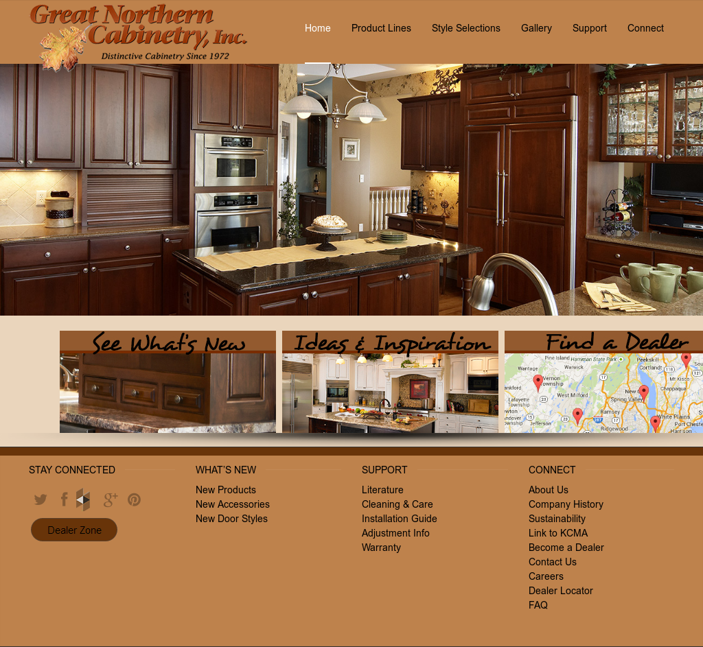 Great Northern Cabinetry Website History