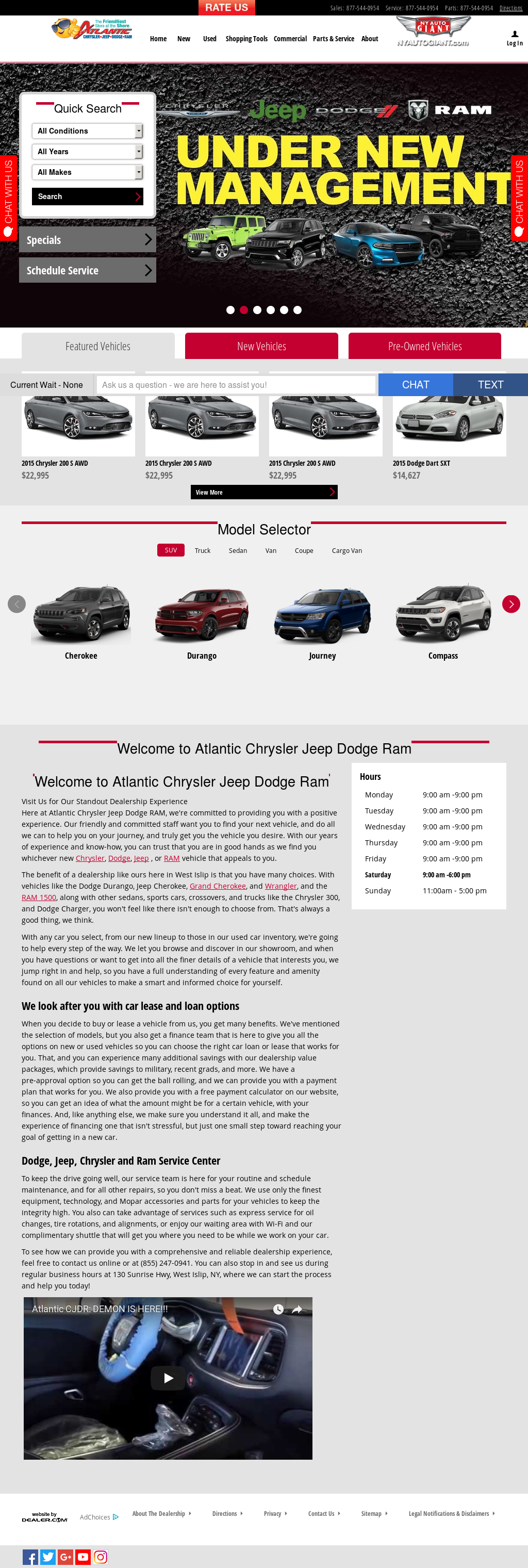 Atlantic Chrysler Jeep Dodge Ram Website History