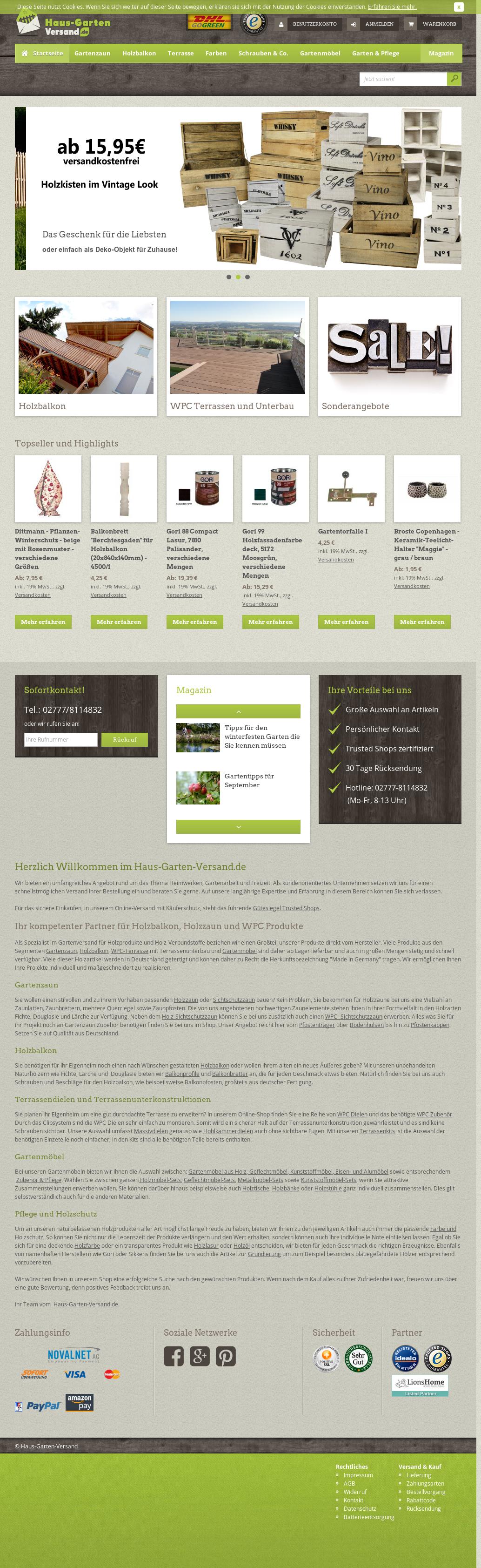 Haus Garten Versand.de Website History