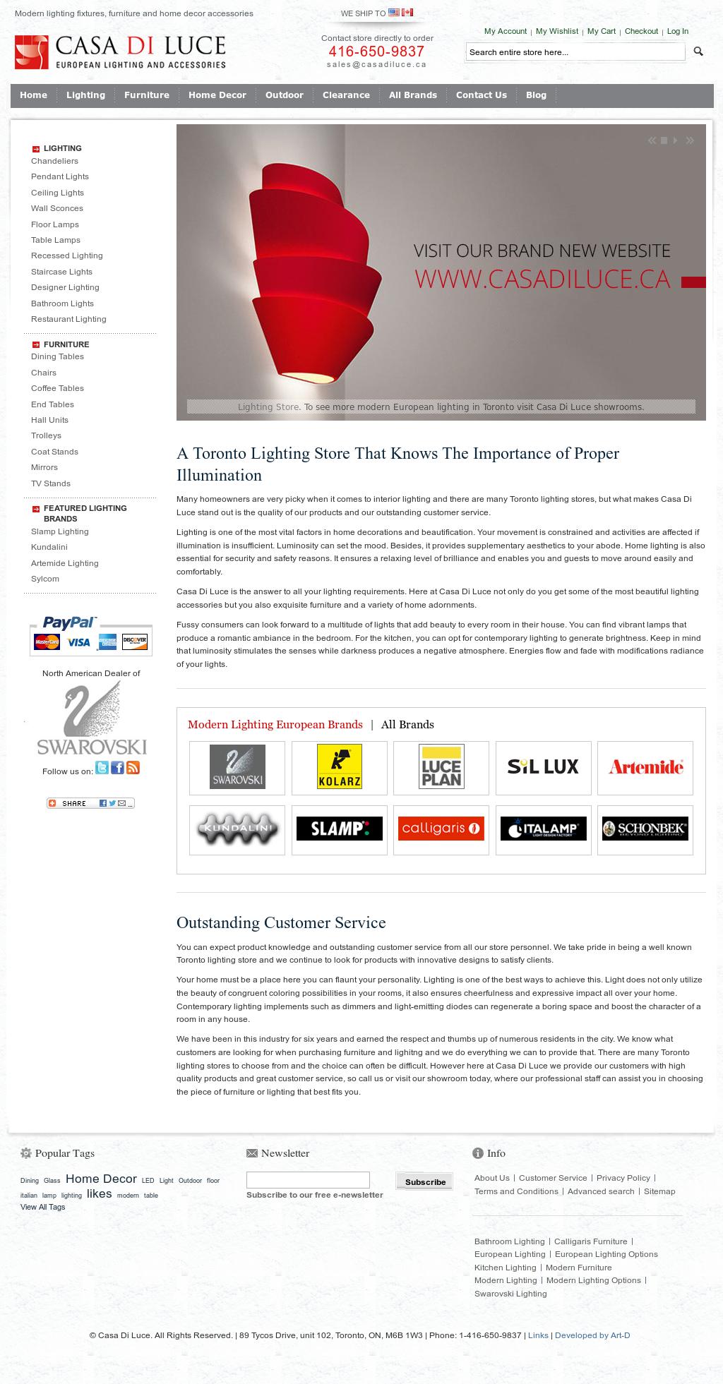 Casa Di Luce Toronto European Lighting Compeors