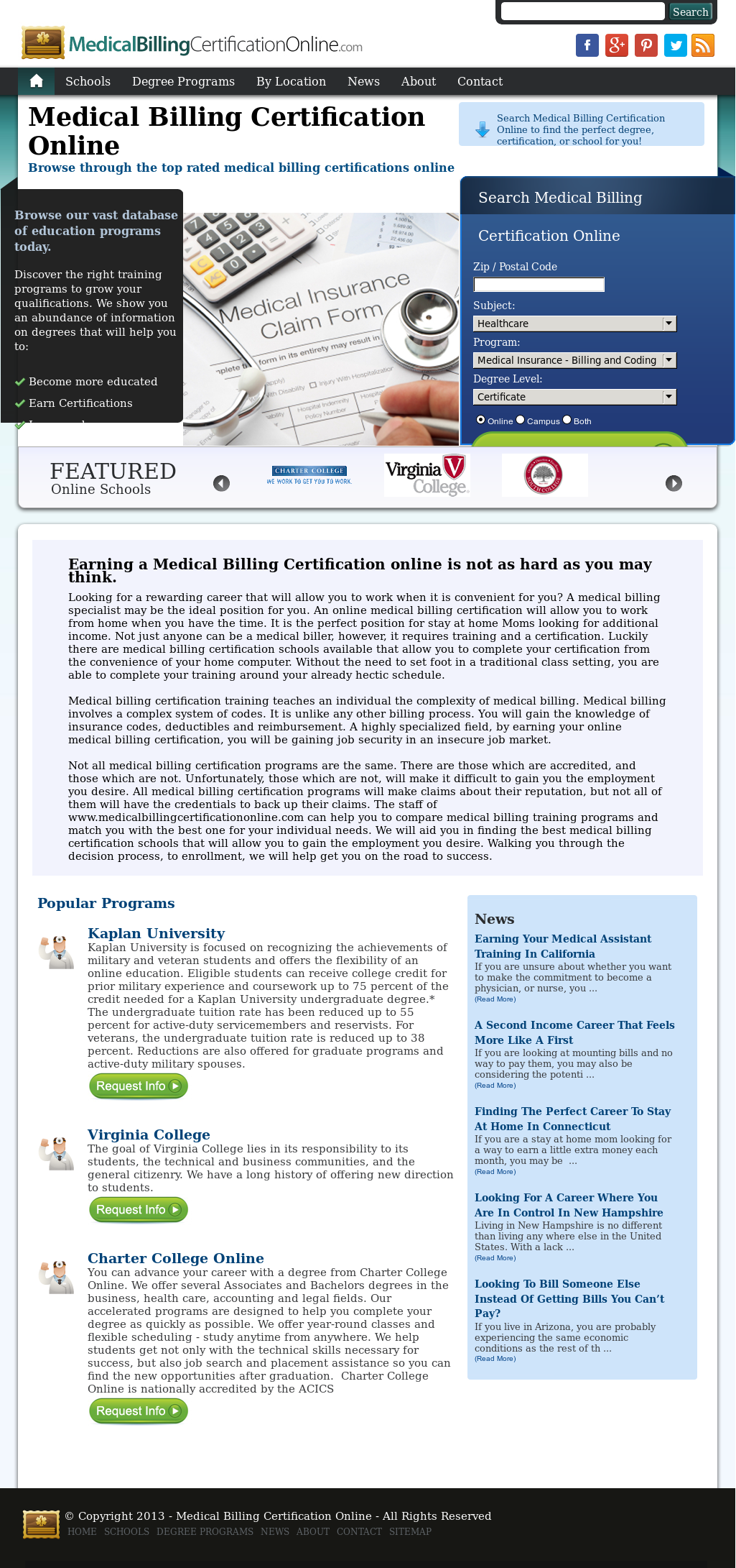 Medical Billing Certification Online Competitors Revenue And