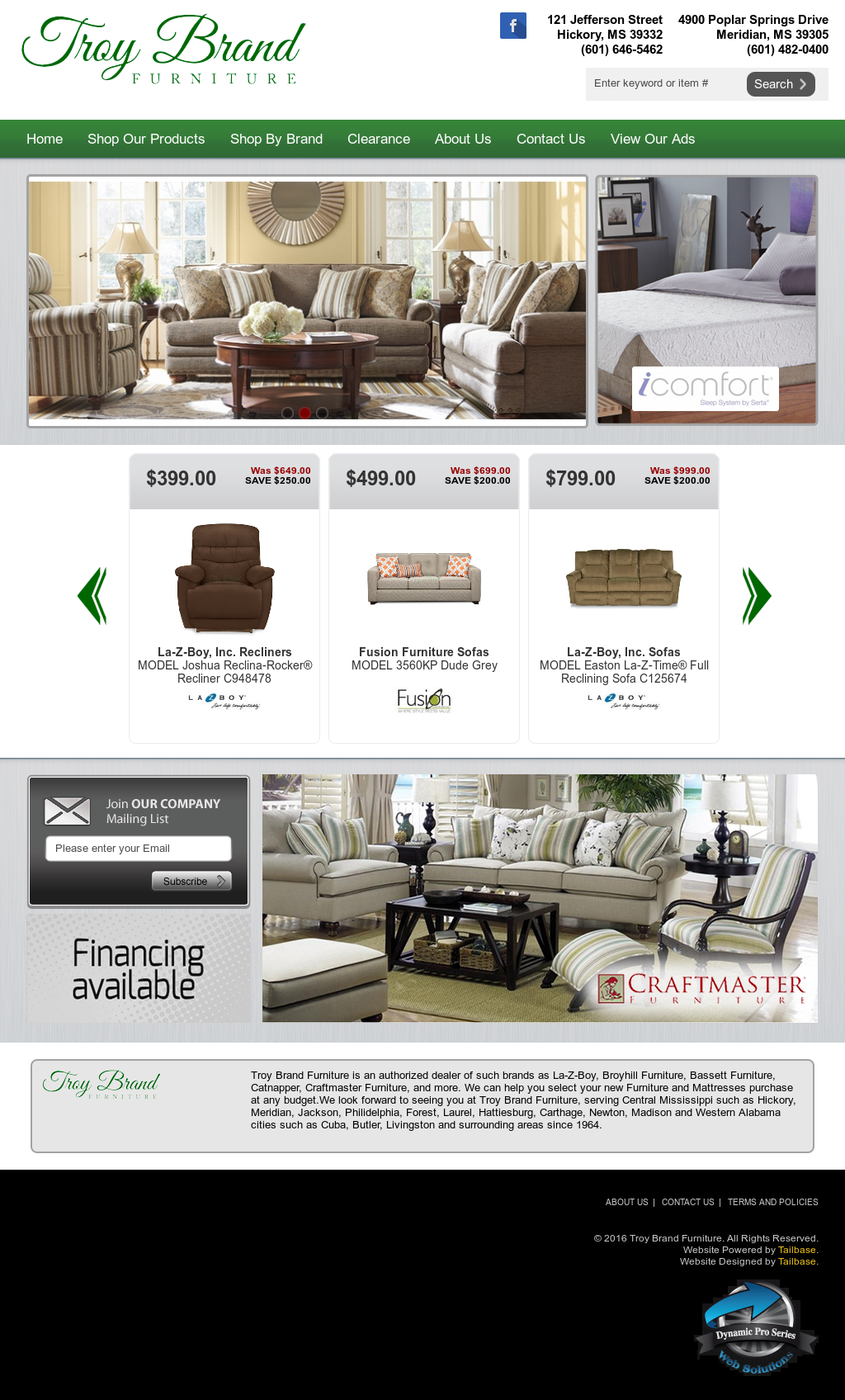 Troy Brand Furniture Compeors Revenue And Employees Owler Company Profile