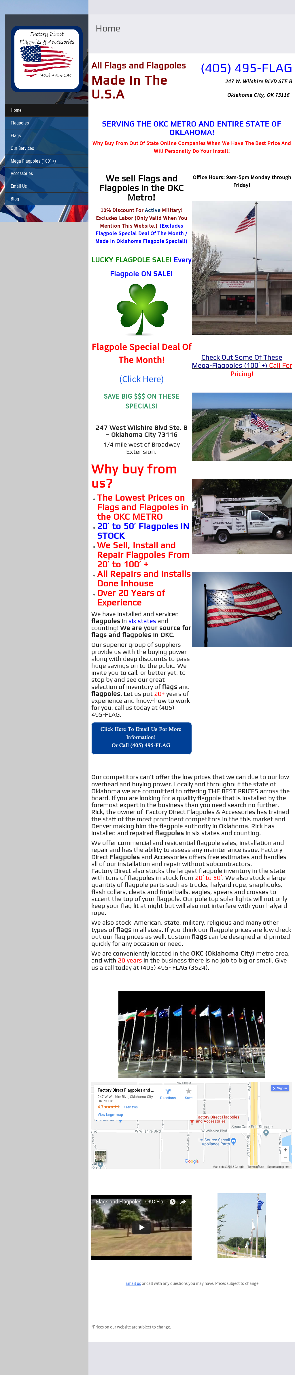 Factory Direct Flagpoles & Accessories Competitors, Revenue and