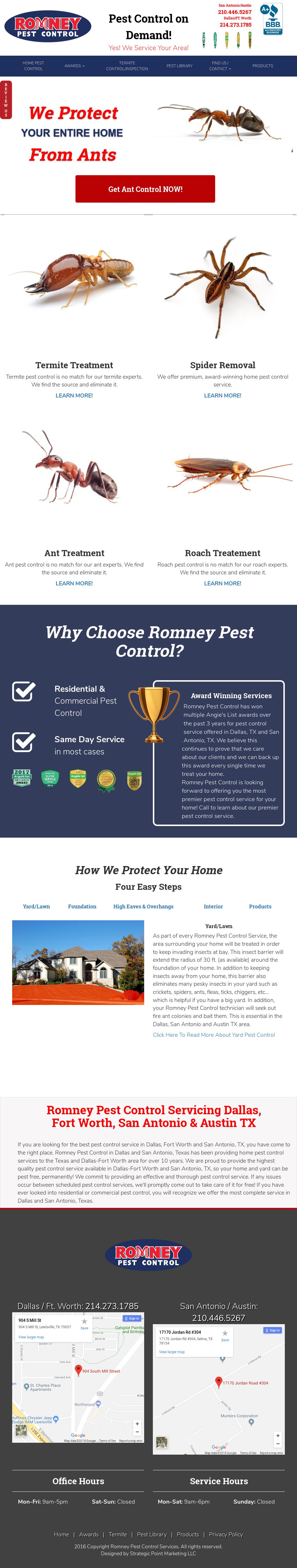 Romney Pest Control S Website Screenshot On Mar 2018