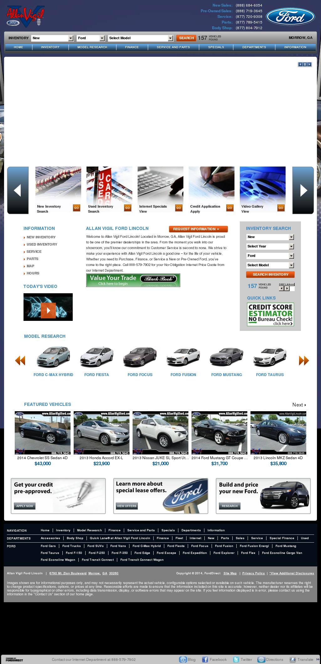 Allan Vigil Ford Morrow Ga >> Allan Vigil Ford Competitors Revenue And Employees Owler