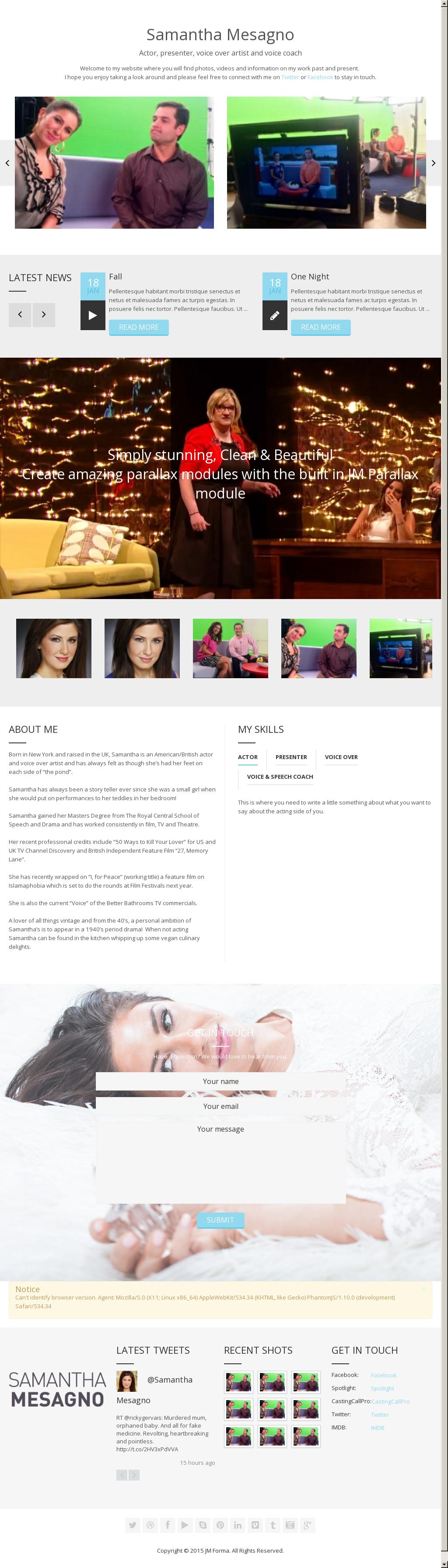 Samantha Mesagno - Actor / Presenter / Voice Over