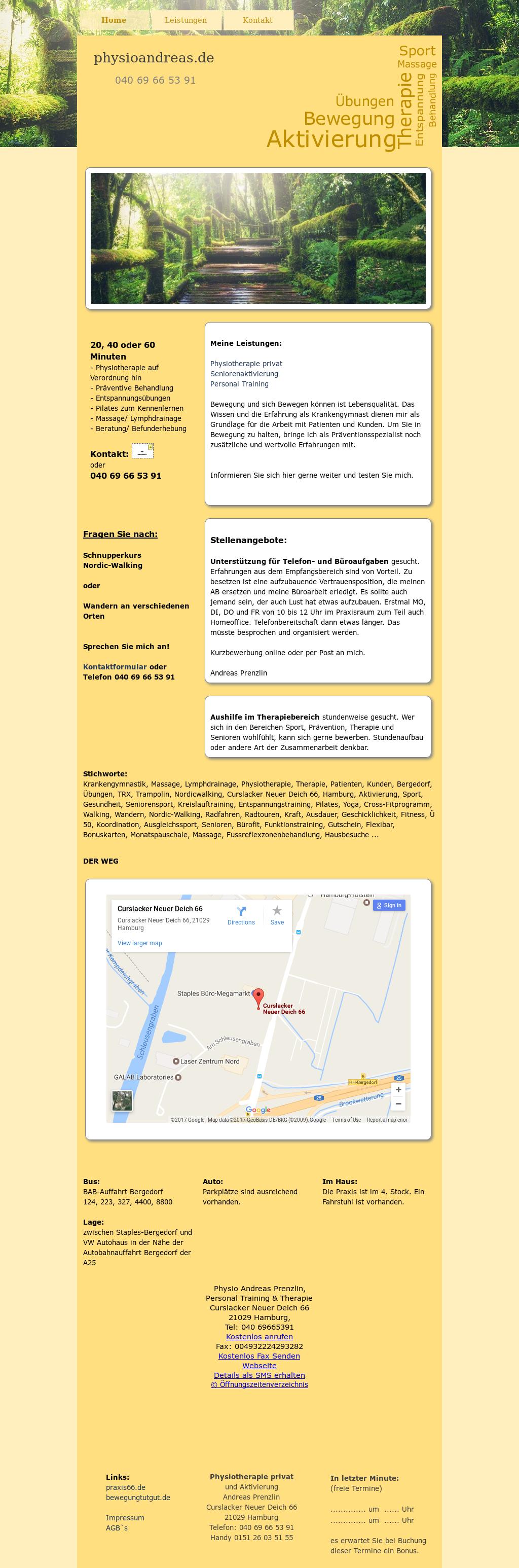 Physiotherapie Mobil Andreas Prenzlin's website screenshot ...