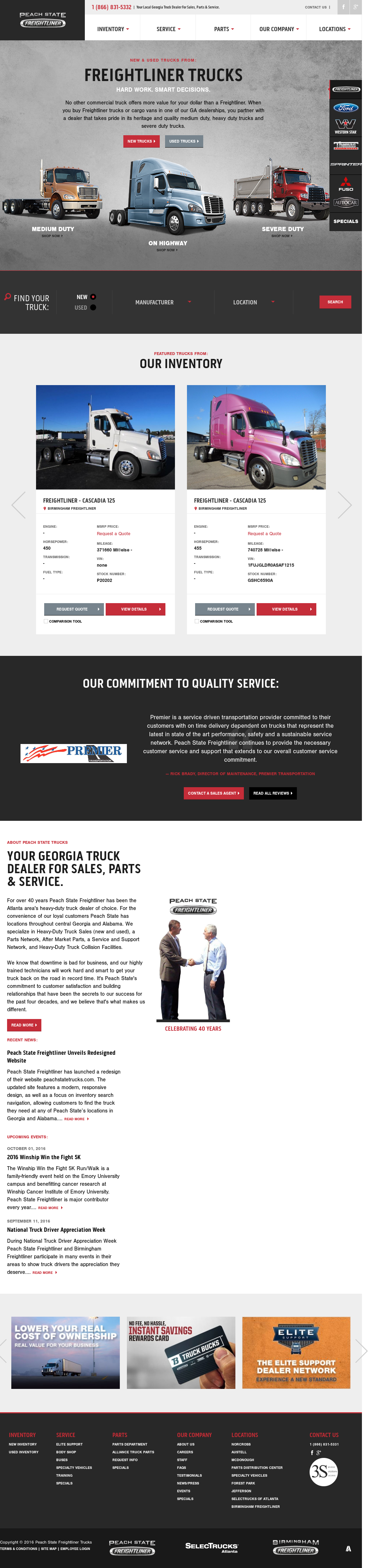 Peach State Freightliner petitors Revenue and Employees Owler