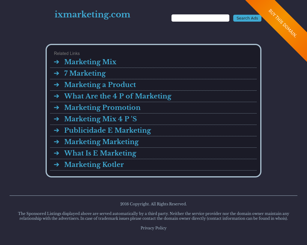Ix Marketing Competitors, Revenue and Employees - Owler