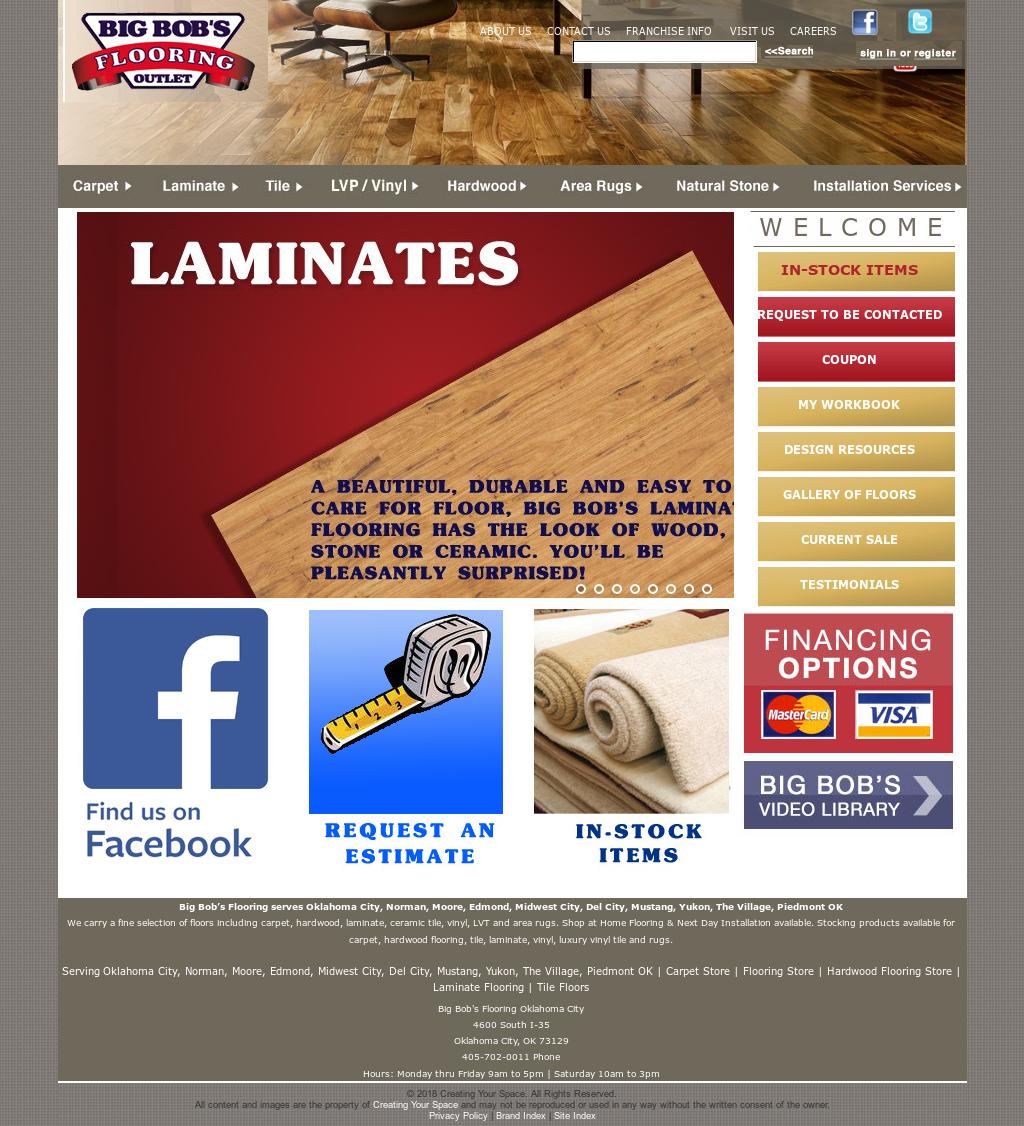 Big Bobs Flooring Okc Website History