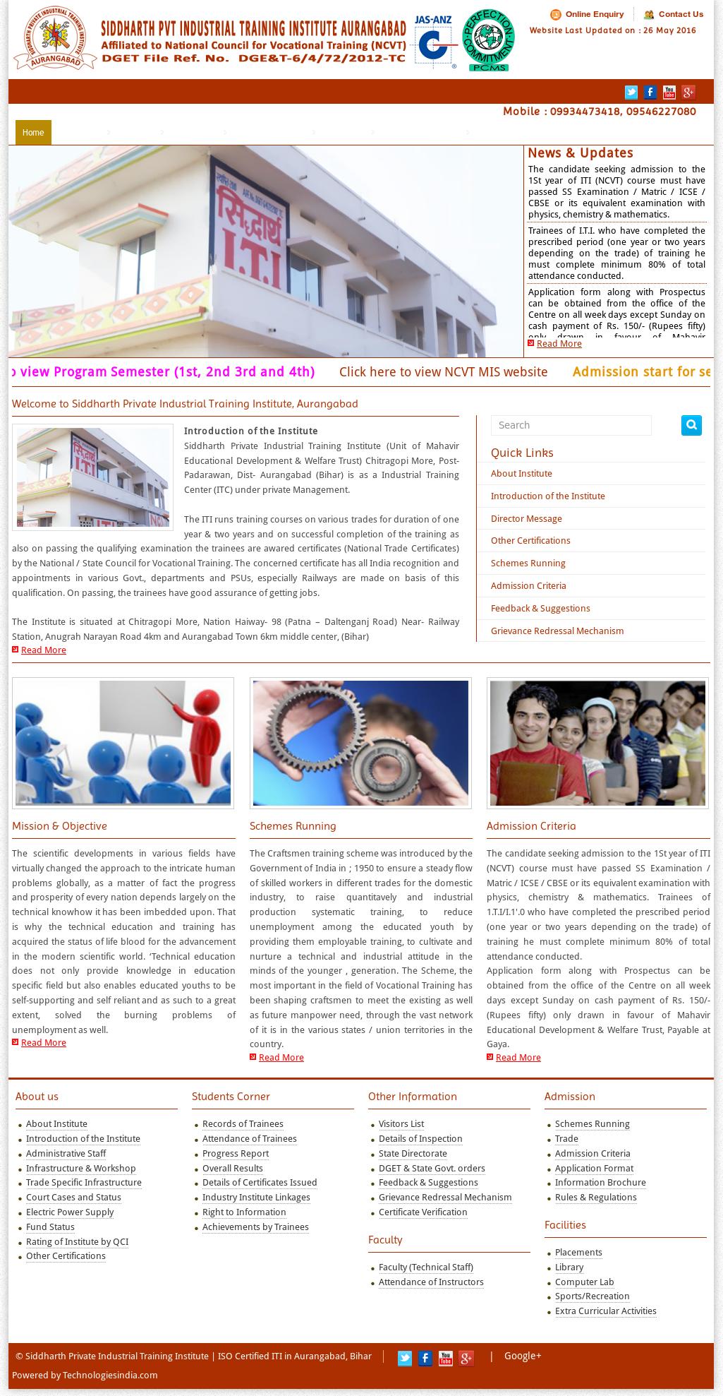 Siddharth Private Industrial Training Institute Competitors