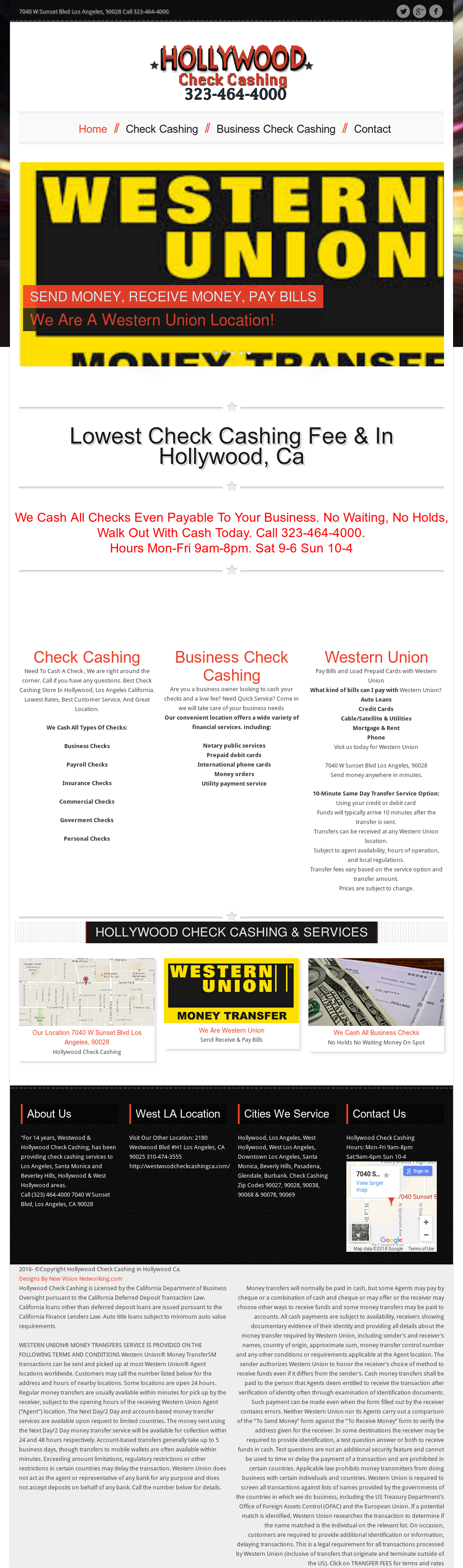 Hollywood Check Cashing Competitors, Revenue and Employees - Owler