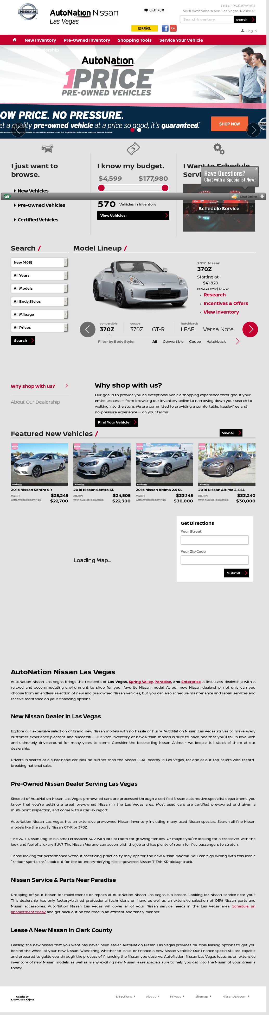 Autonation Nissan Las Vegas Website History