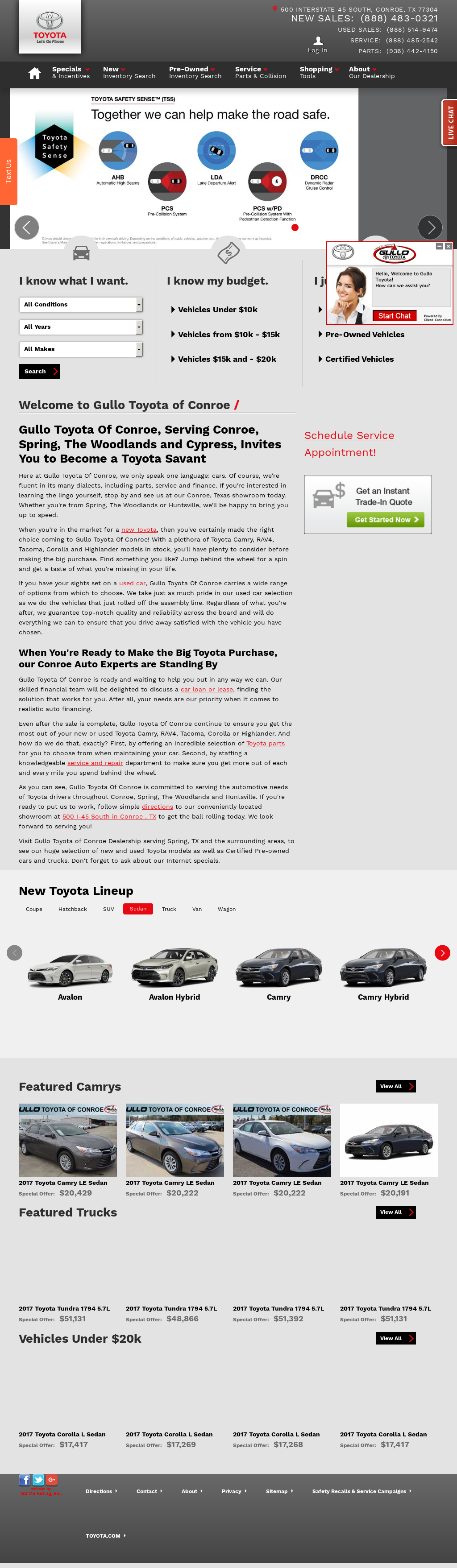 Gullo Toyota Conroe Website History
