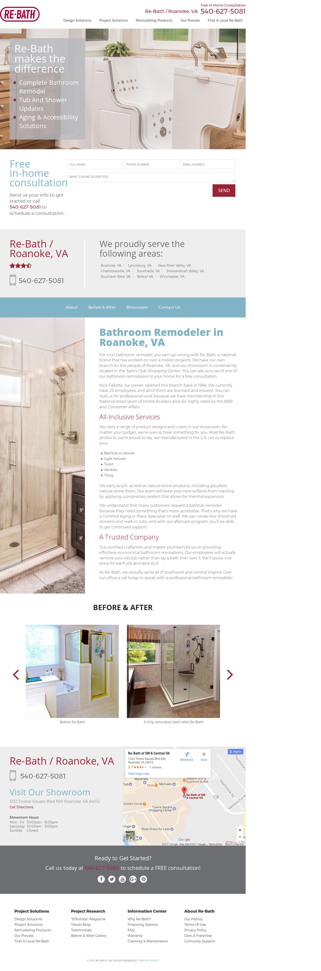 Rebath Southeast Virginiau0027s Website Screenshot On Jun 2017