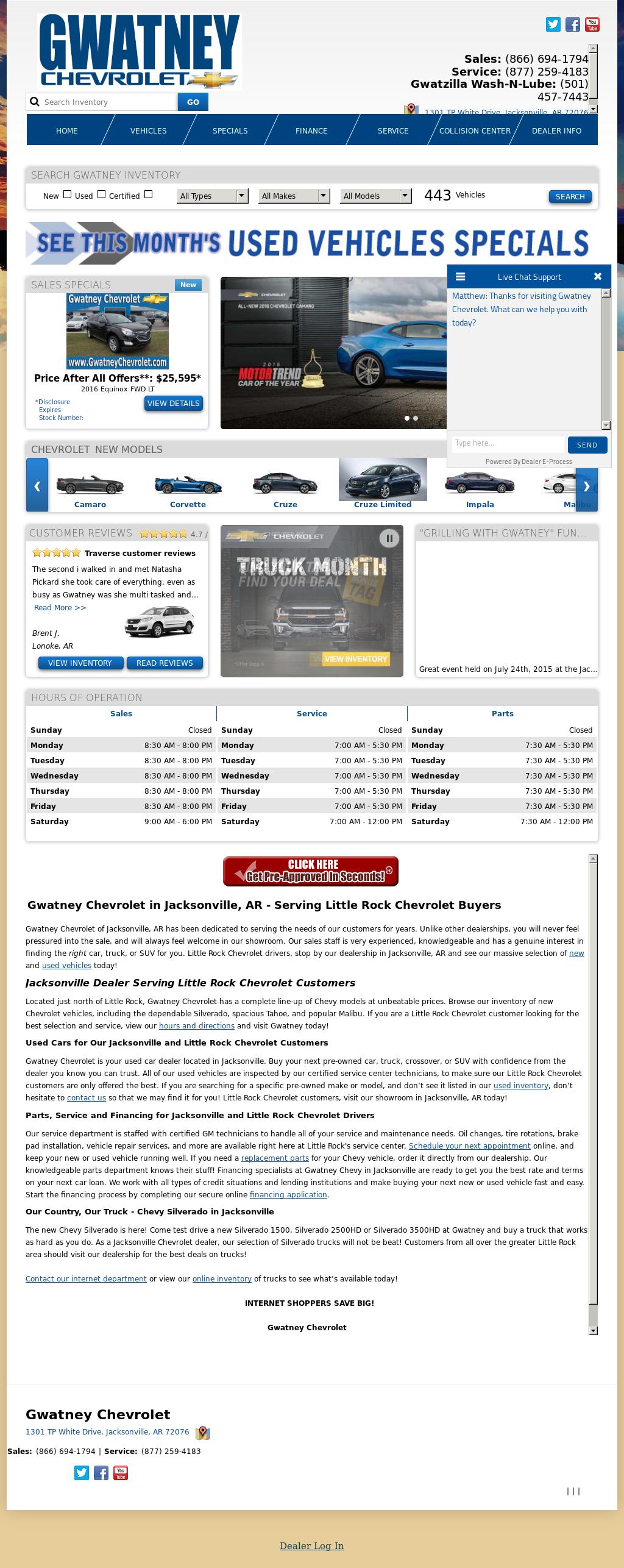 Gwatney Chevrolet Jacksonville Arkansas >> Gwatney Chevrolet Competitors Revenue And Employees Owler