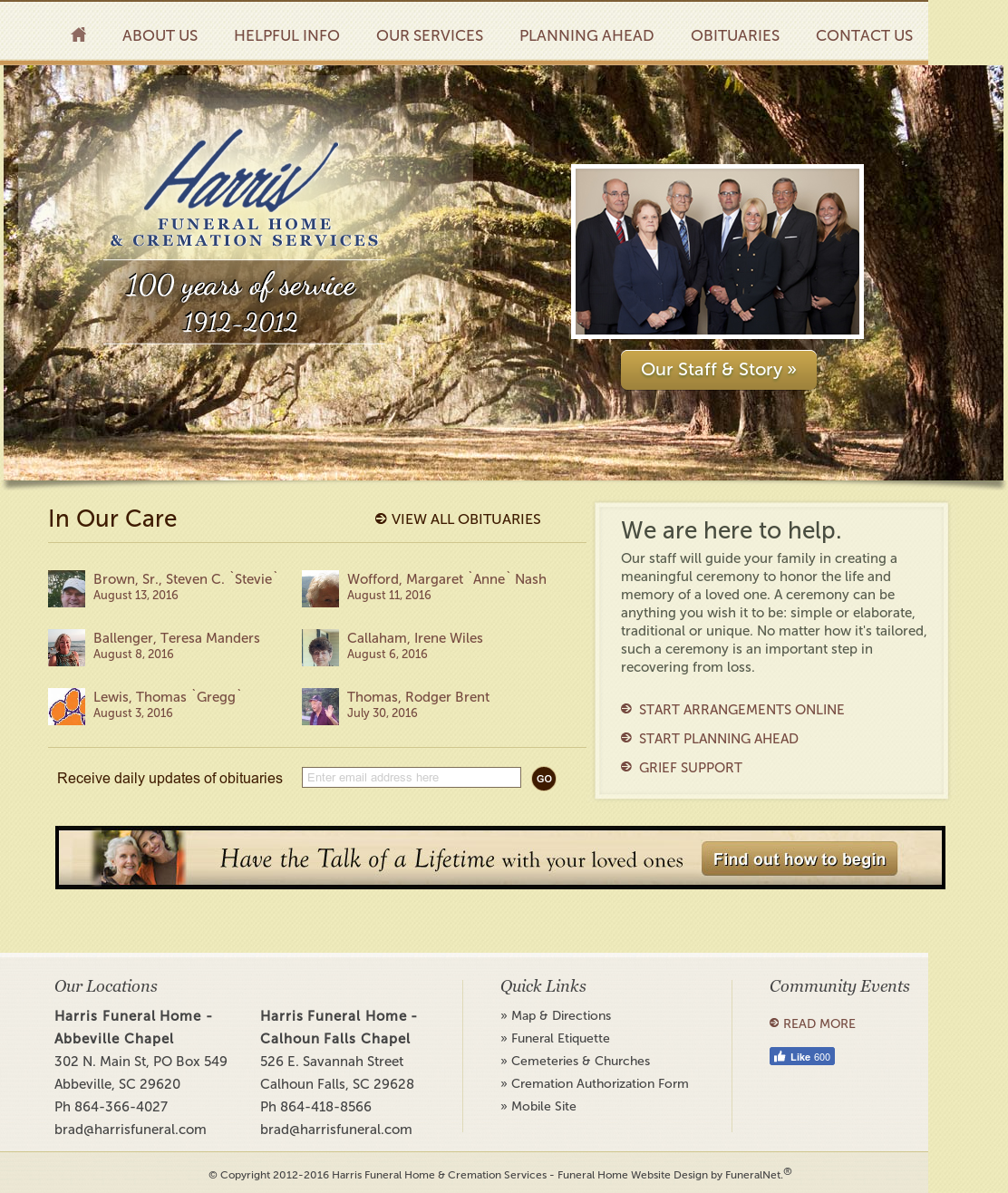Harris Funeral Home & Cremation Services Competitors