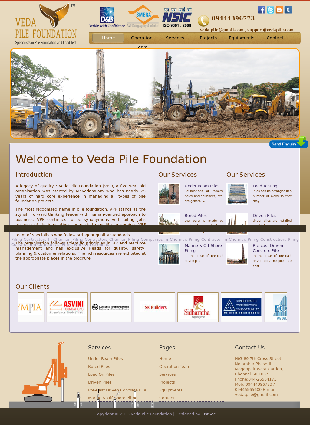 Veda Pile Foundation Competitors, Revenue and Employees - Owler