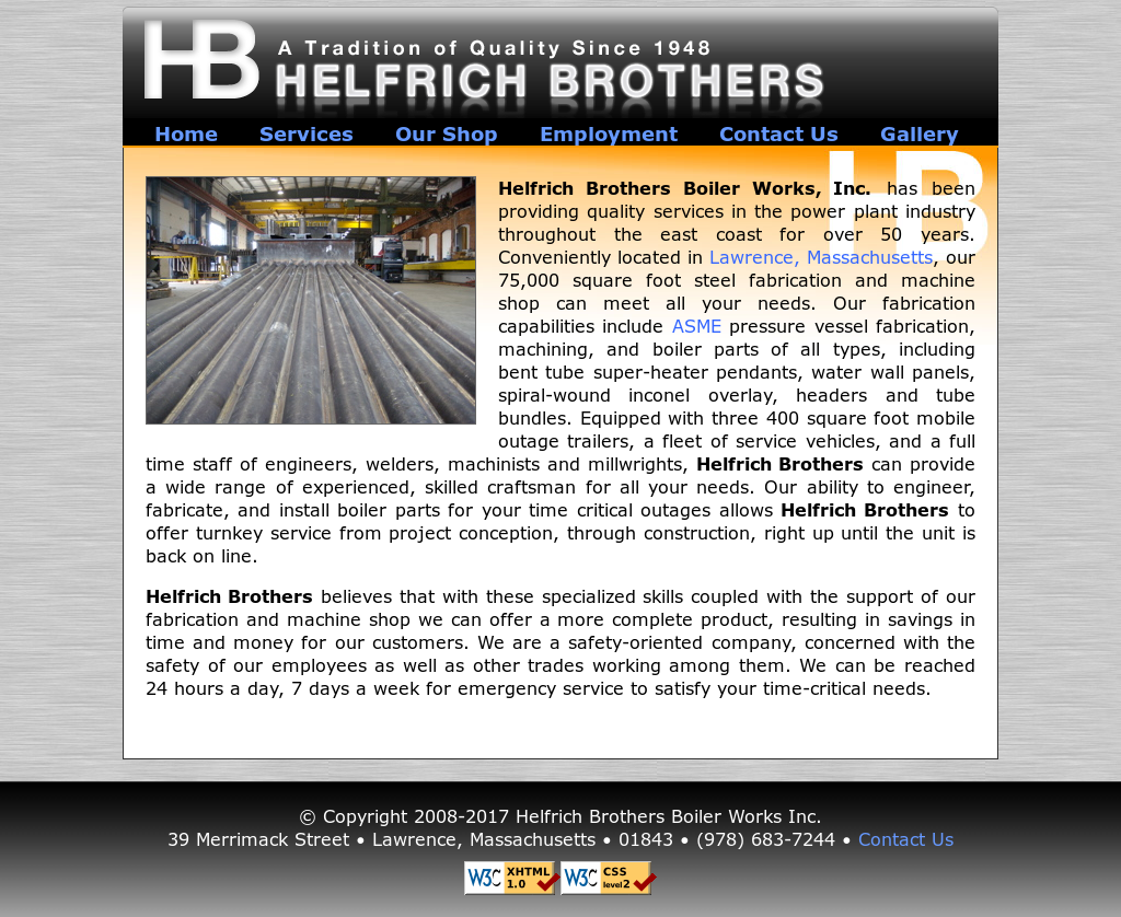 Helfrich Brothers Boiler Works Competitors, Revenue and Employees ...