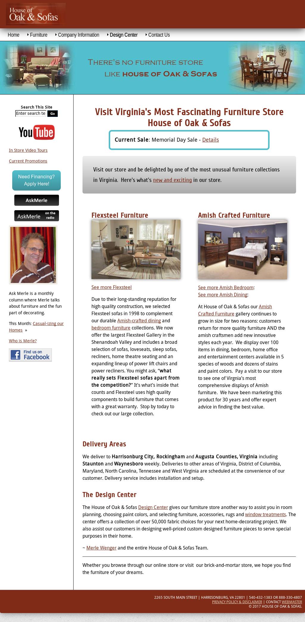 House Of Oak U0026 Sofas Website History