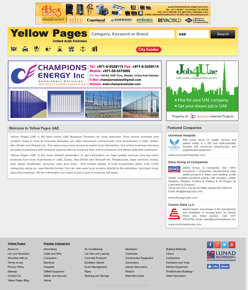 Yellow Pages Uae Competitors, Revenue and Employees - Owler