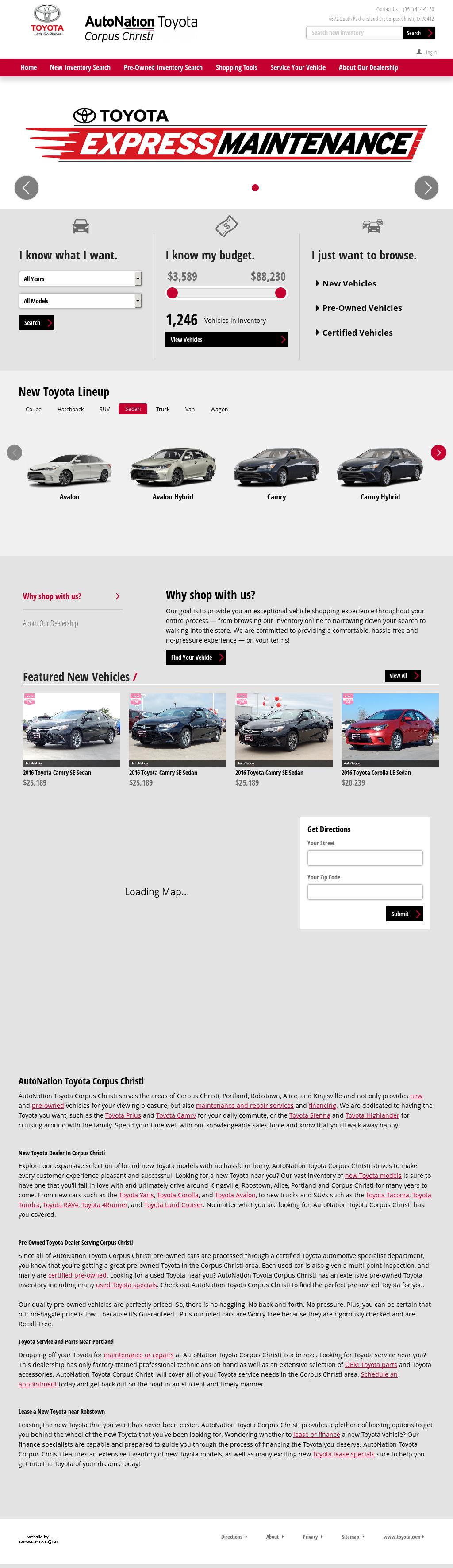 Autonation Toyota Scion Corpus Christi petitors Revenue and