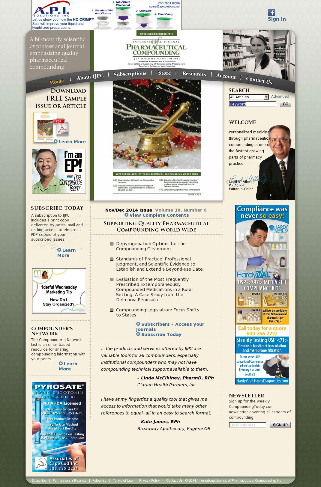 International Journal of Pharmaceutical Compounding