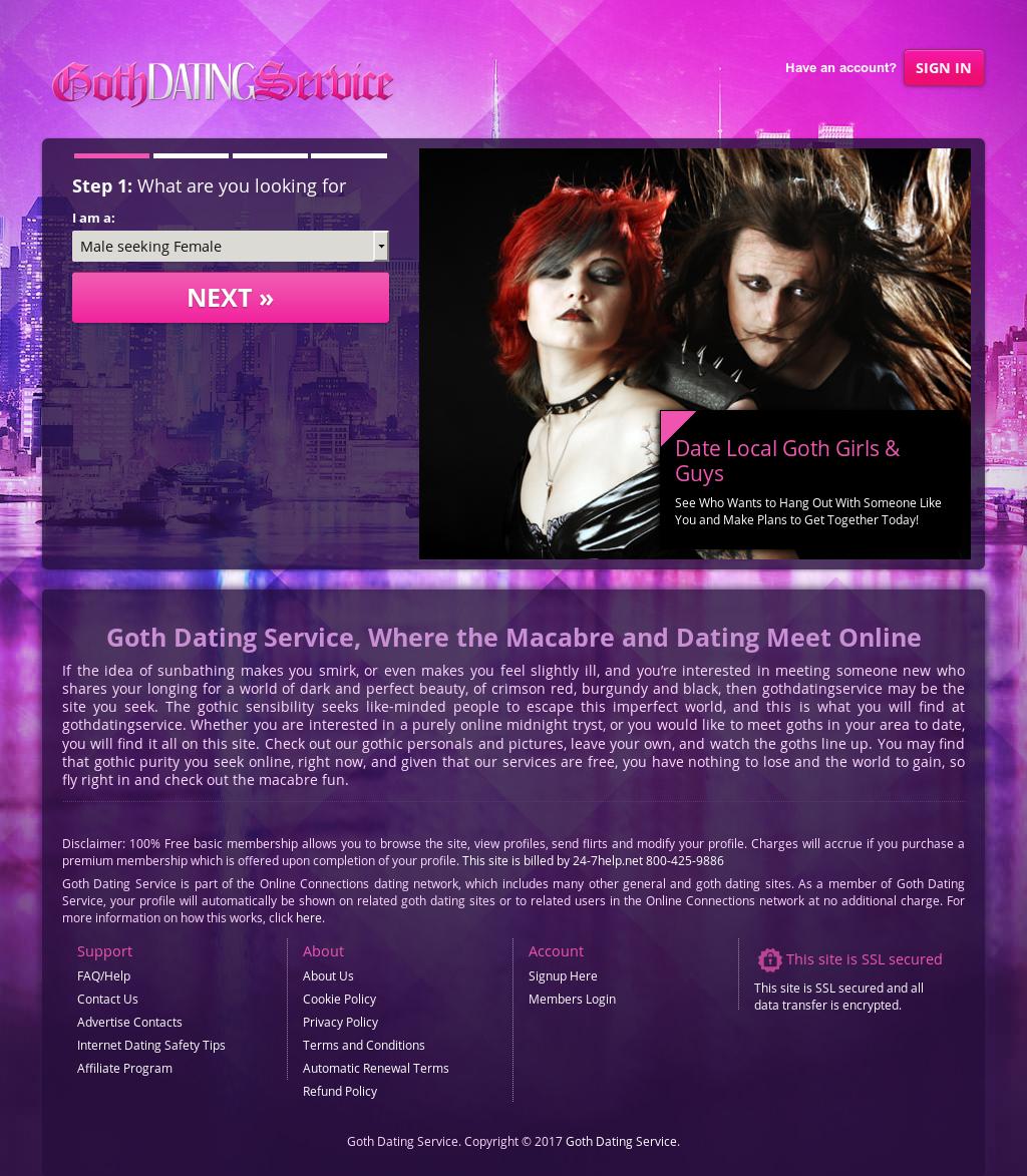 Bedste goth dating site
