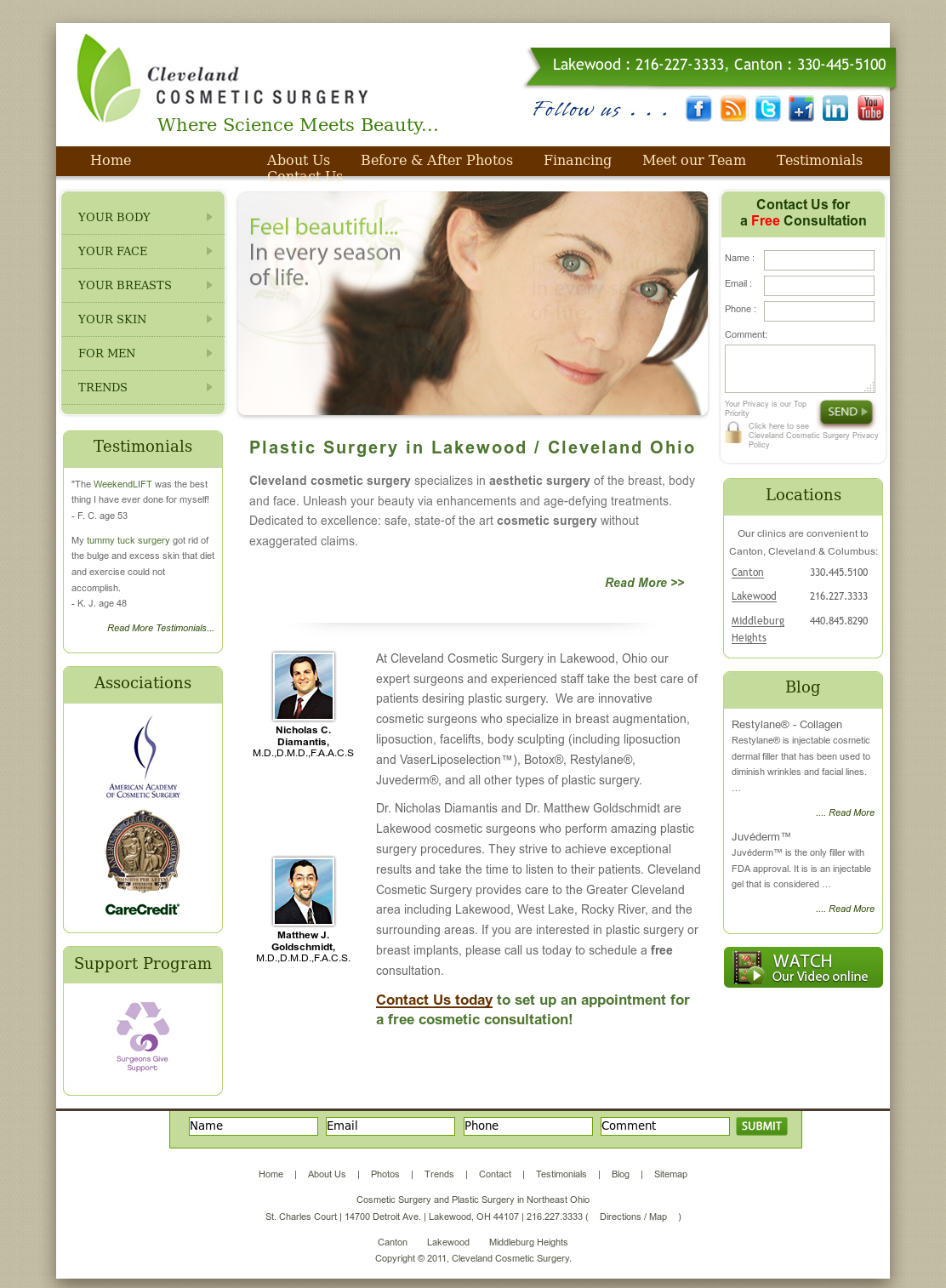 Cleveland Cosmetic Surgery Competitors, Revenue and