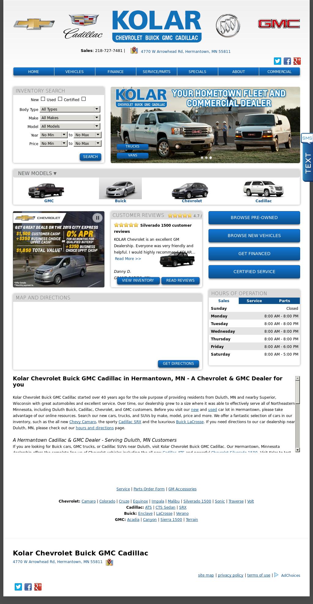 Kolar Chevrolet Buick Gmc Competitors Revenue And Employees Owler