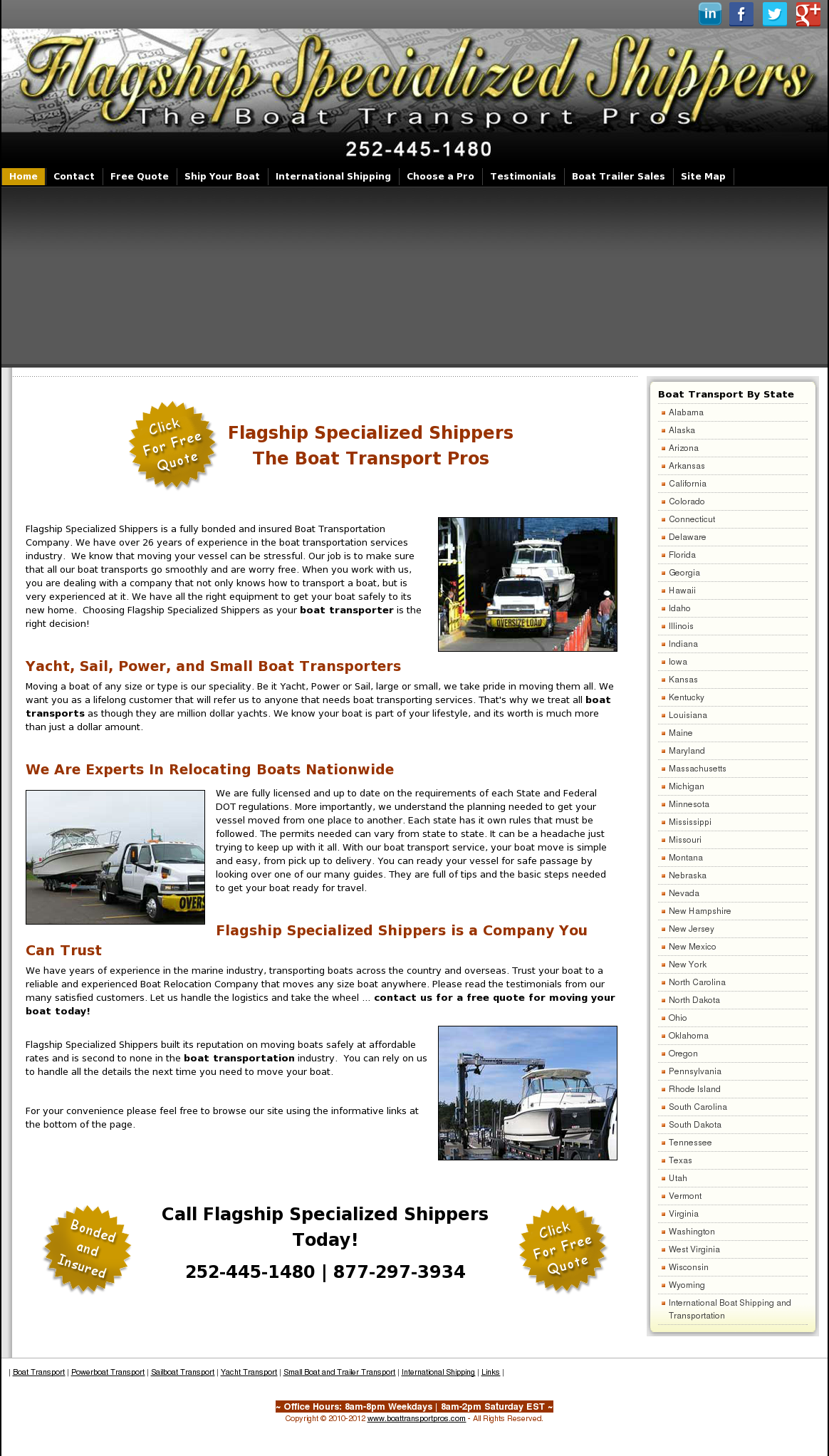 Flagship Specialized Shippers - The Boat Transport Pros