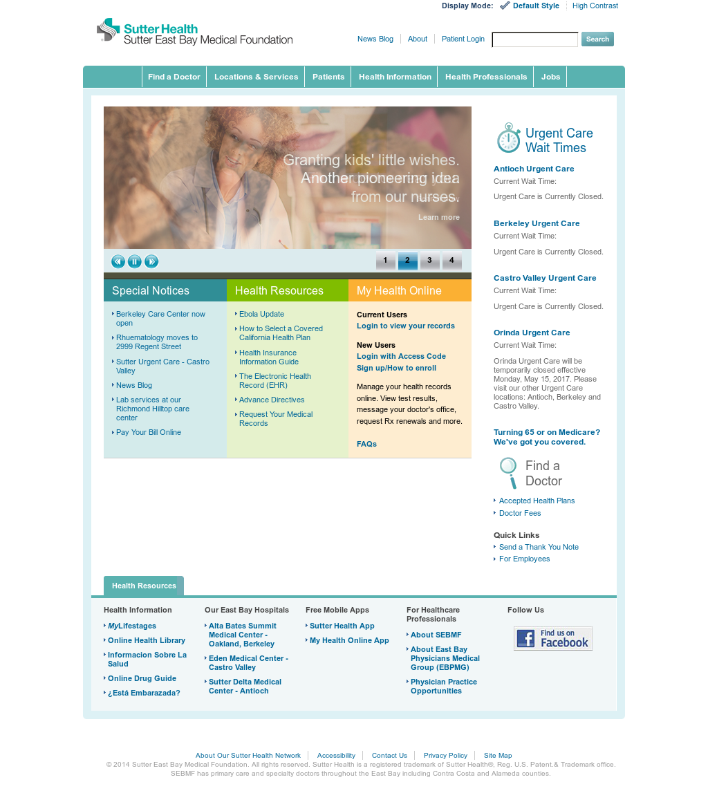 Sutter East Bay Medical Foundation Competitors, Revenue and