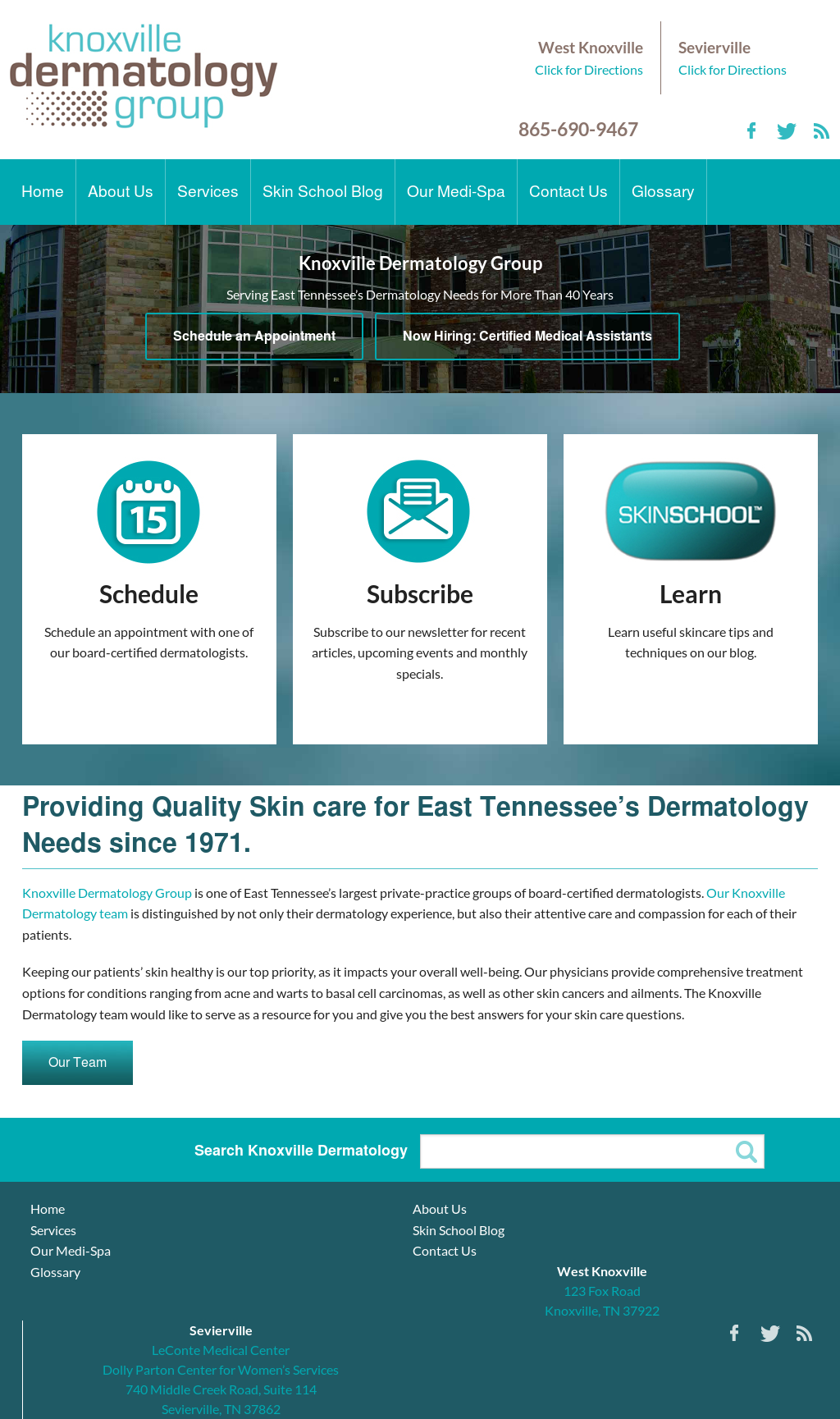 Knoxville Dermatology Group Competitors, Revenue and