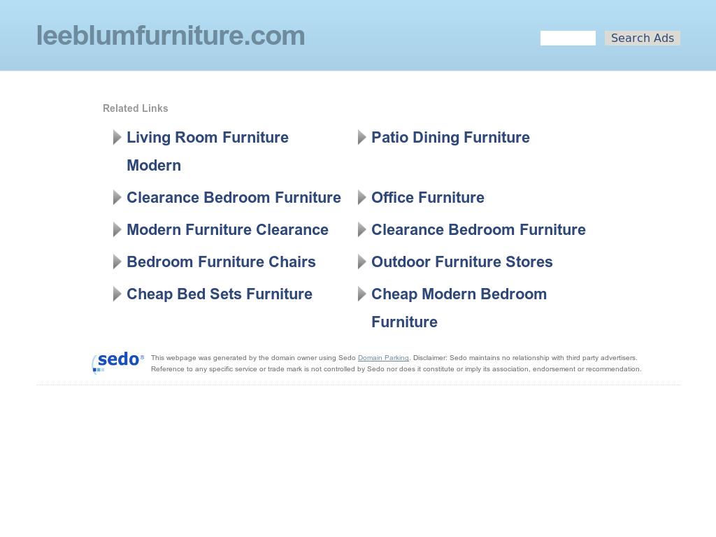 Charmant Lee Blum Furniture Website History