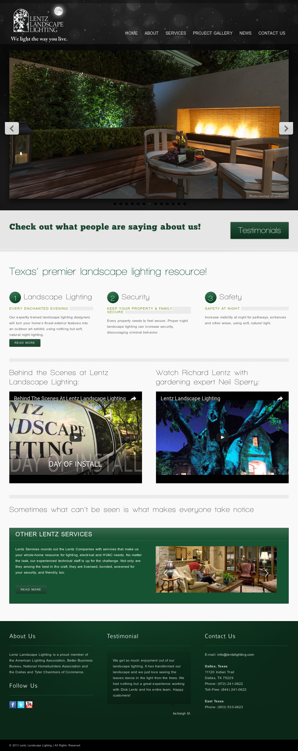 Lentz landscape lighting competitors revenue and employees owler lentz landscape lighting website history aloadofball Gallery