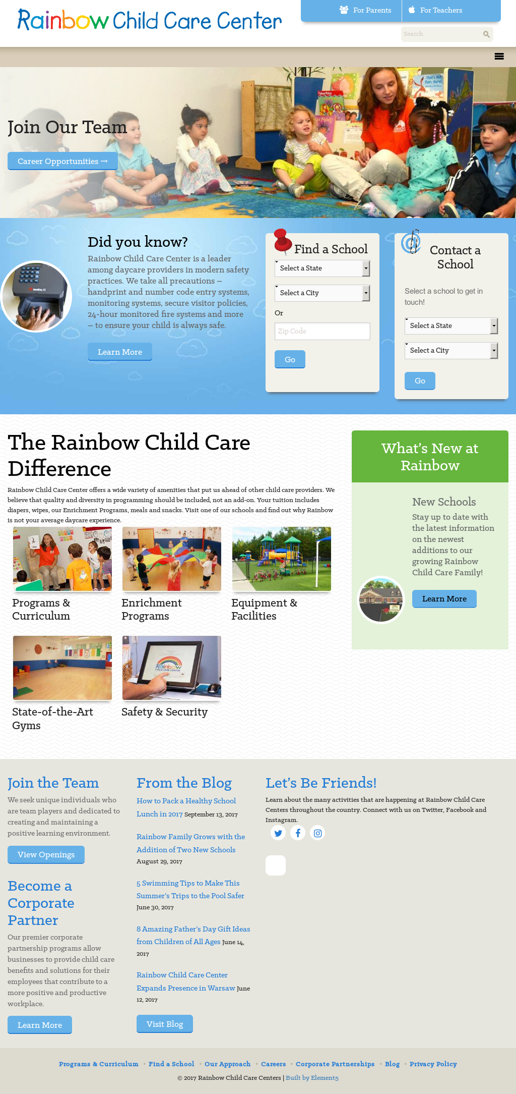 Rainbow Child Care Competitors, Revenue and Employees