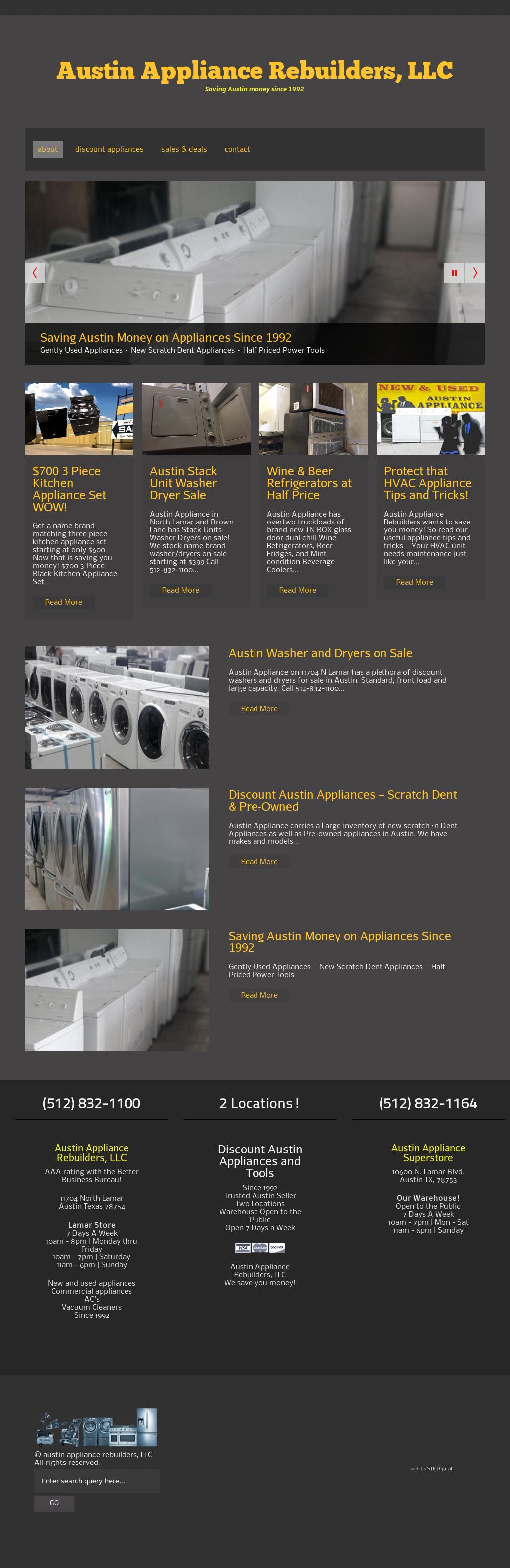 Austin Appliance Rebuilders Competitors, Revenue and
