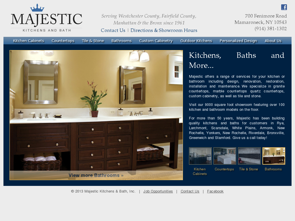 Majestic Kitchens U0026 Bath Website History