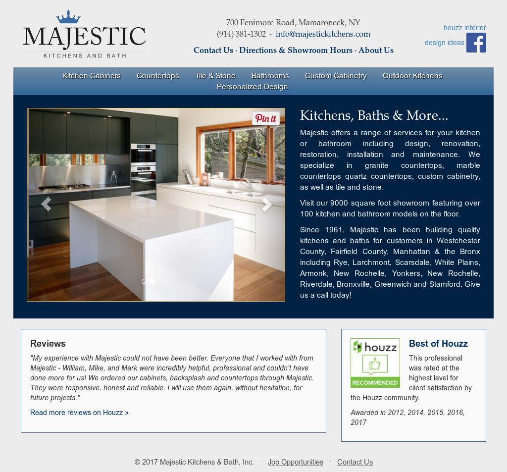Majestic Kitchens U0026 Bath Website History
