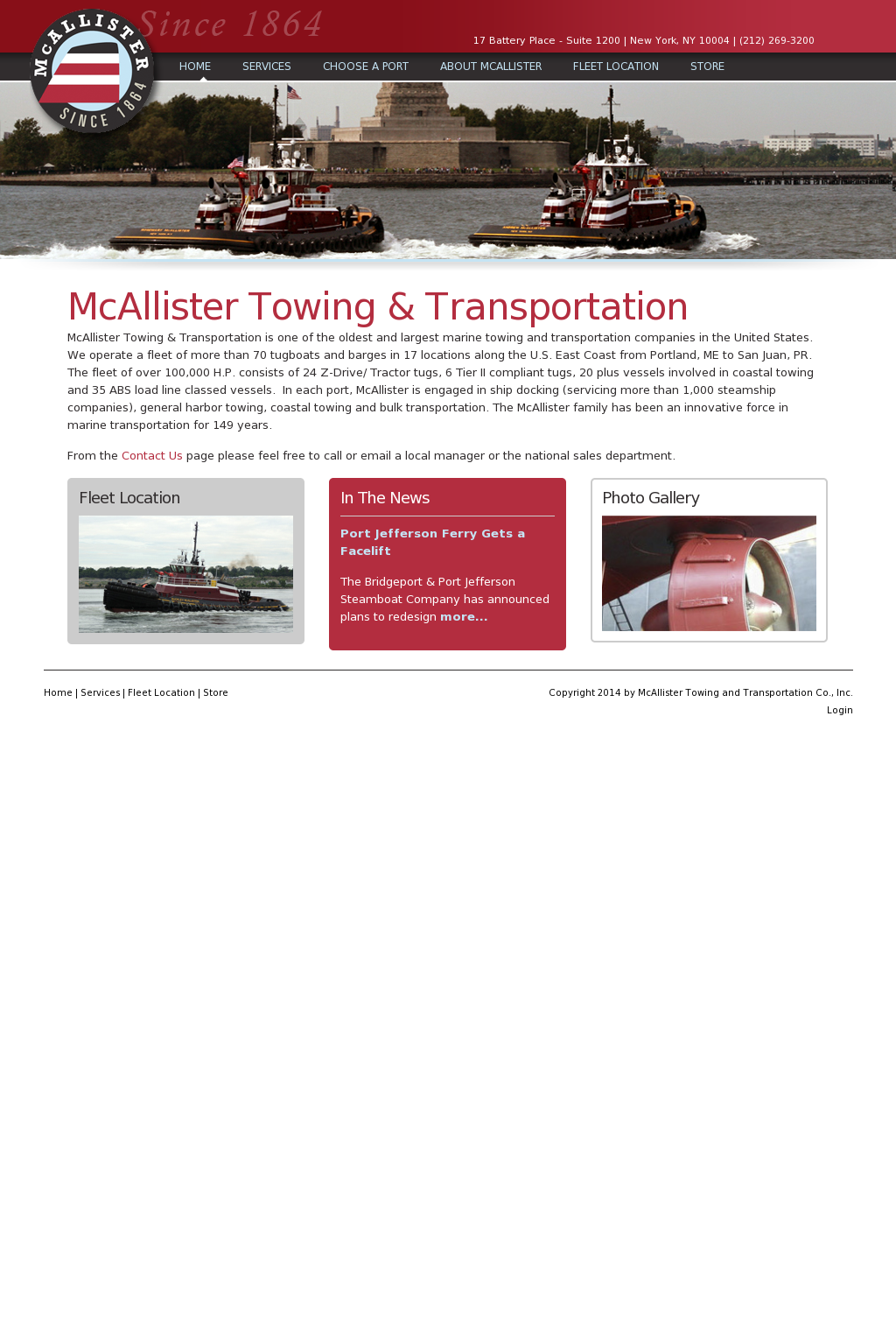 McAllister Towing and Transportation Competitors, Revenue
