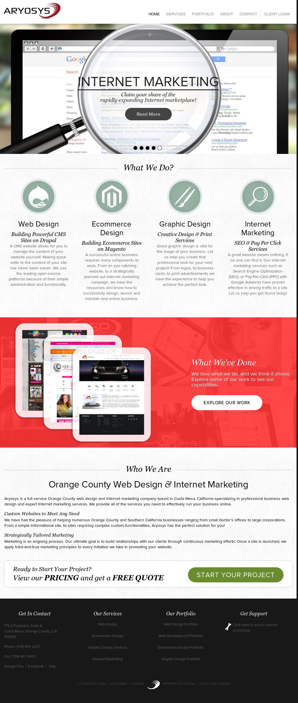 Aryosys | Orange County Web Design & Seo Competitors