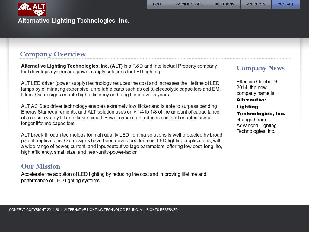 Alternative Lighting Technologies Competitors Revenue And Employees Flickerledcircuitboardwebpng Website History