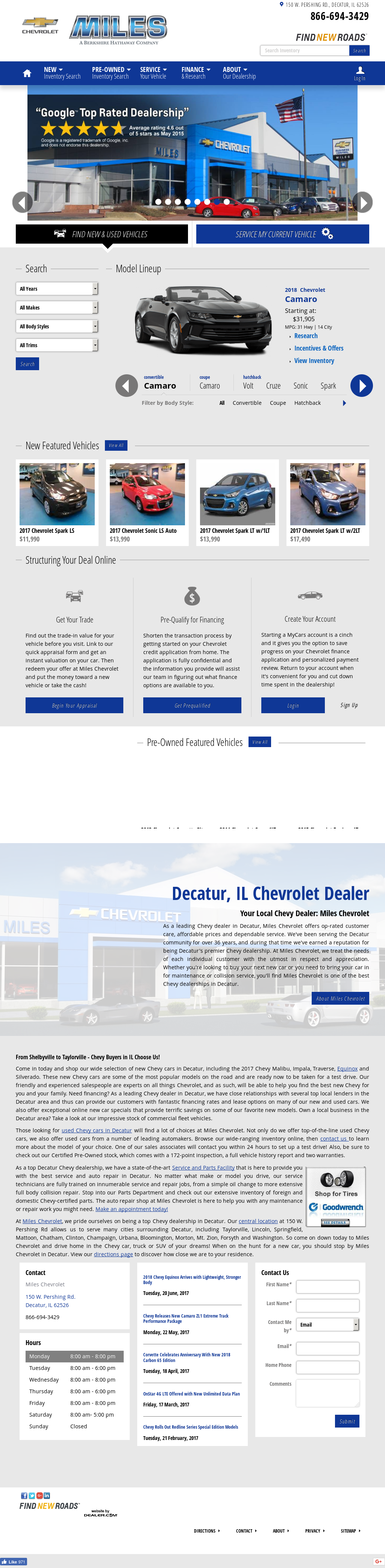 Miles Chevy Website History