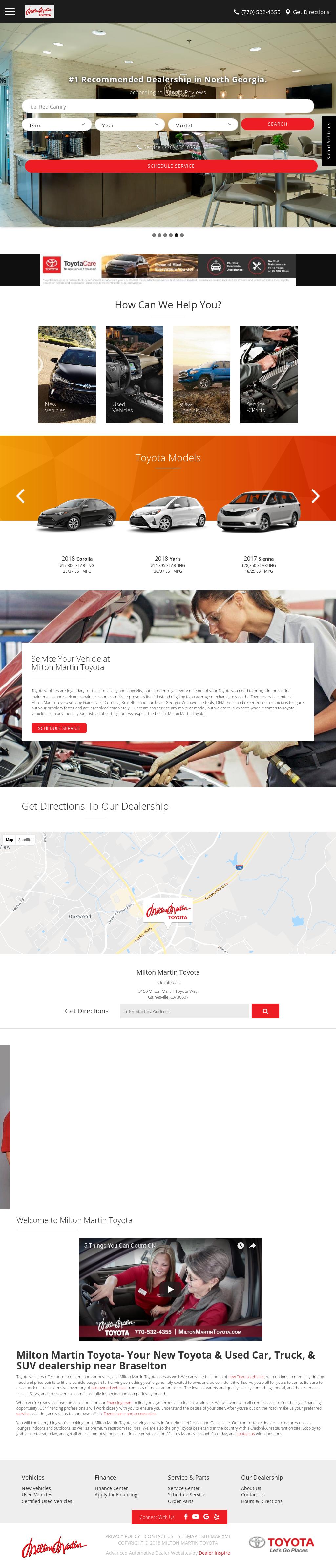 Milton Martin Toyota Website History
