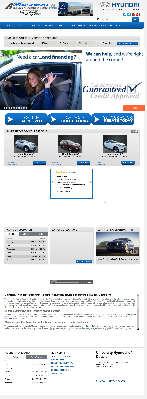 University Hyundai Website History