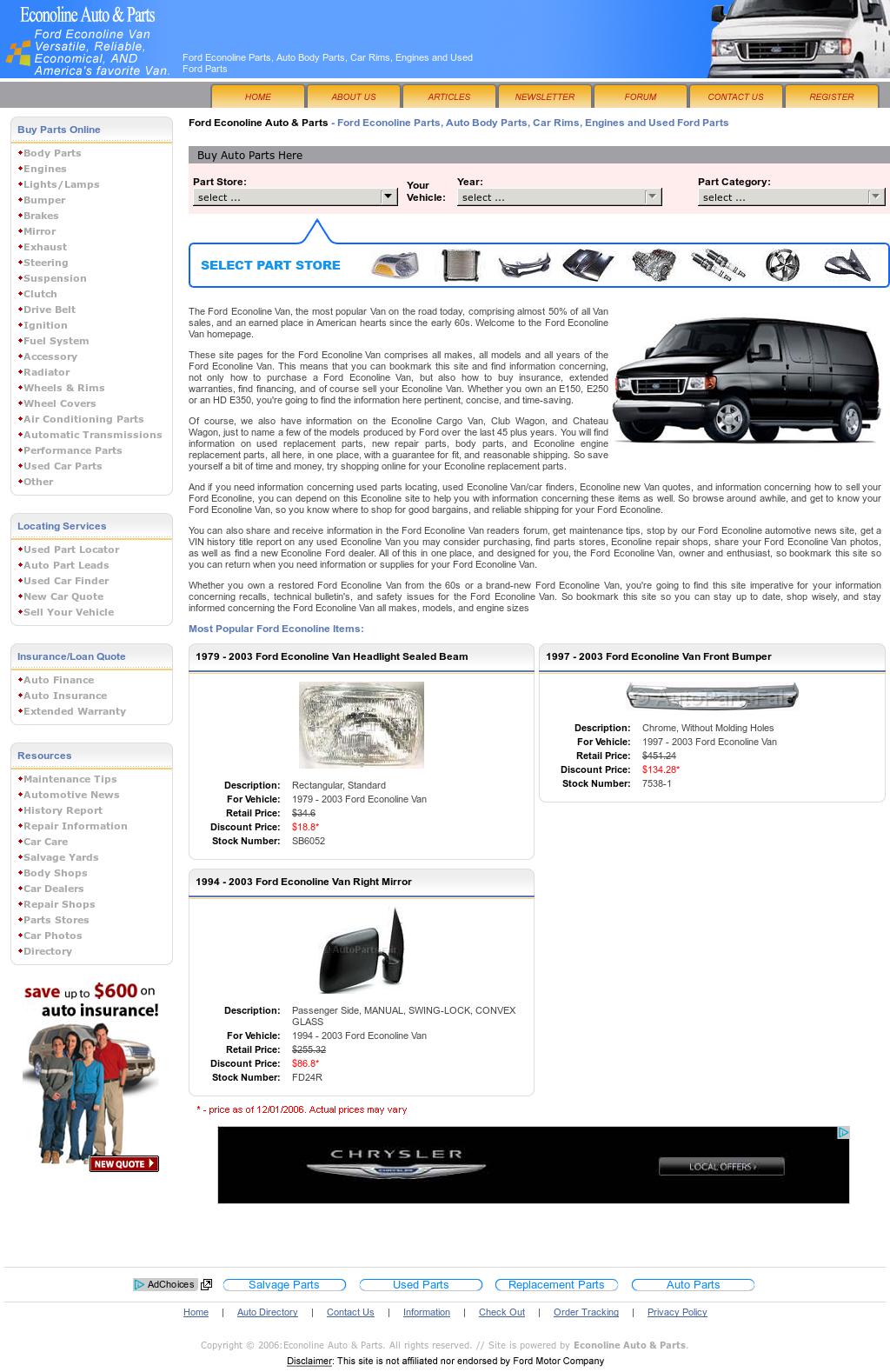Econoline Auto & Parts Competitors, Revenue and Employees