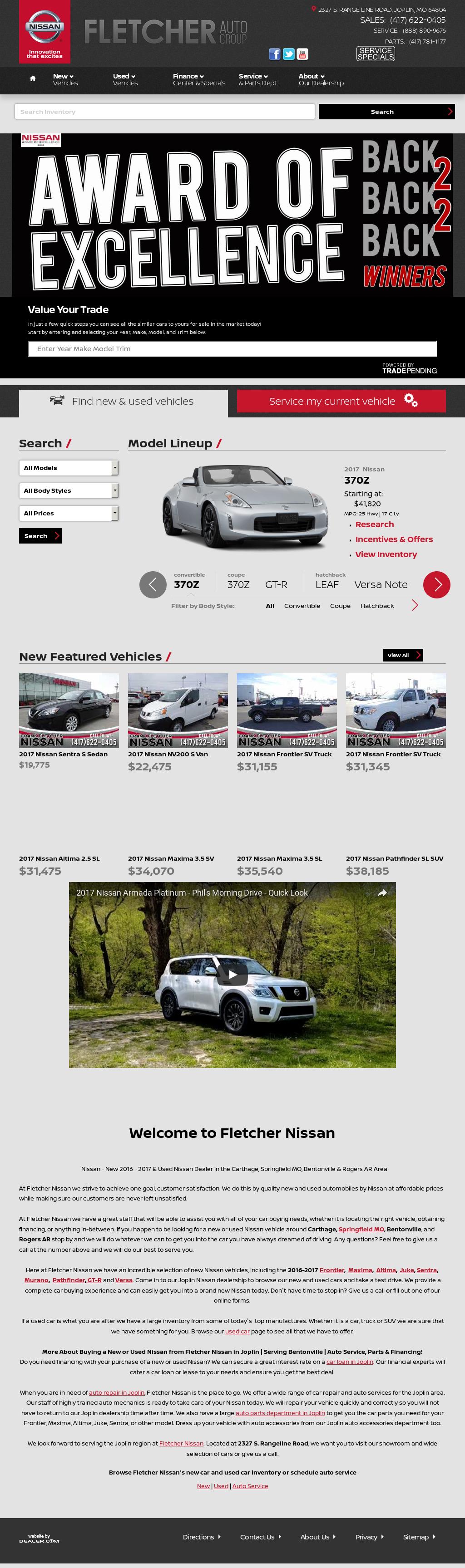 Frank Fletcher Nissan Website History