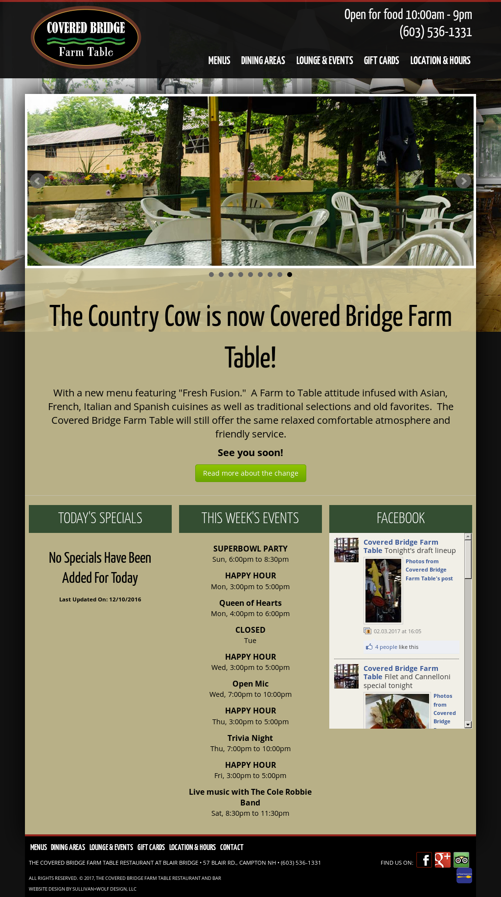 The Country Cow Restaurant And Bar Competitors Revenue And - Covered bridge farm table